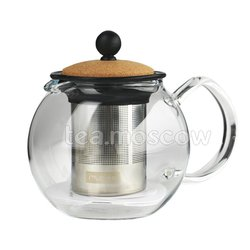 Чайник заварочный с прессом и пробковой крышкой Bodum Assam 500 мл  (1807-109S)