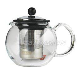 Чайник заварочный с прессом цвет хром Bodum Assam 500 мл (1807-16)