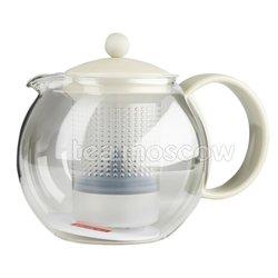 Чайник заварочный с прессом Bodum Assam белый 1л (1844-913)