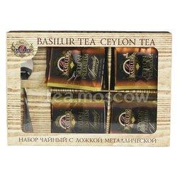 Набор чайный Basilur Цейлон Премиум Чай и ложка металлическая