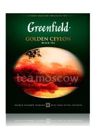 Чай Greenfield Golden Ceylon 100 Пакетиков