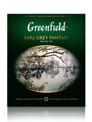 Чай Greenfield Earl Grey Fantasy 100 Пакетиков