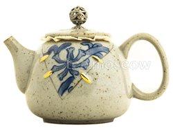 Чайник из керамики серо-зеленый 250 мл (ZZT-04)