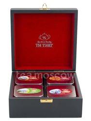 Подарочный набор Ти Тэнг в деревянной шкатулке. Чай черный и зеленый в пакетиках 100 г