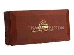 Подарочный набор Ти Тэнг в деревянной шкатулке. Чай черный в пакетиках 200 г