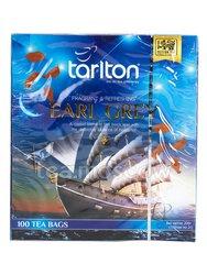 Чай Tarlton Earl Grey черный в пакетиках 100 шт * 2 г
