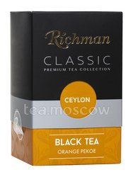 Чай Richman Classic Ceylon. Flowery Broken Orange Pekoe черный 100 г (Красный)
