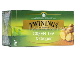 Чай Twinings Green Tea & Ginger в пакетиках 25 шт