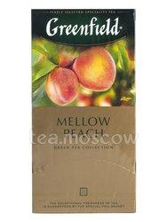 Чай Greenfield Mellow Peach (Мэллоу Пич) зеленый в пакетиках 25 шт х 1.8 г