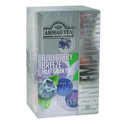 Чай Ahmad Tea Blueberry Breeze. Ахмад Блуберри бриз-голубика в пакетиках