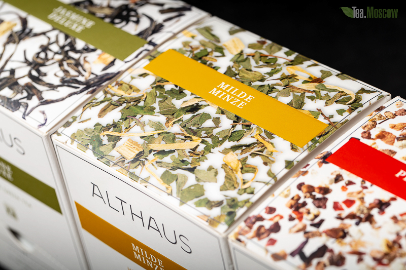 Чай Althaus Jasmin Ting Yuan/Жасмин Тинг Юань Пакетики для чашки 20шт.х1,75 гр